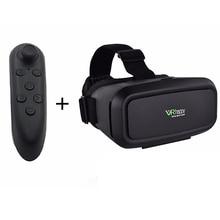 VRมีความสุขแม่เหล็กควบคุมG Oogleกระดาษแข็งสากลชุดหูฟังความจริงเสมือน3Dแก้ว4-6 'มาร์ทโฟน+บลูทูธควบคุม