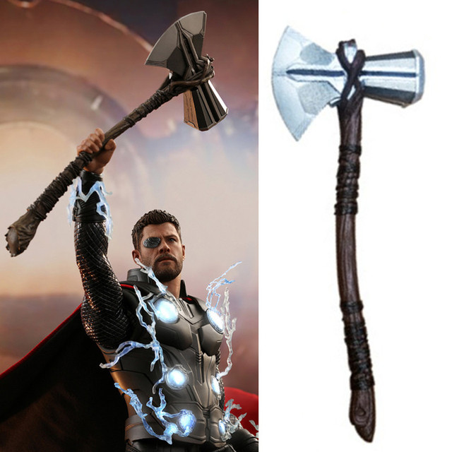 Avengers 3 Infinity War Thor Stormbreaker Axe Cosplay Props Thor New Handmade Axe Purim Halloween Costume Masquerade Party Props