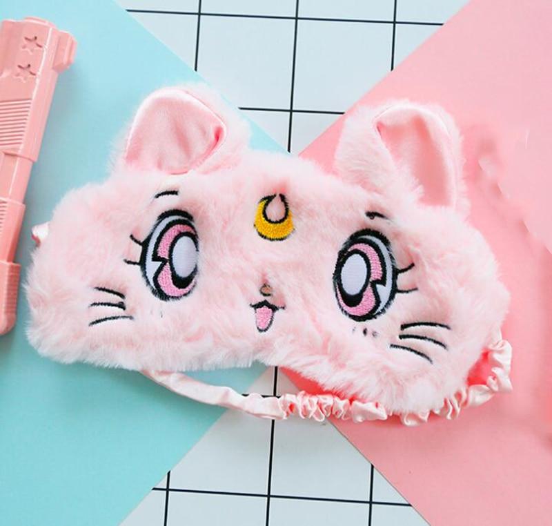 HANRIVER  3 Pieces  The New Unicorn Sleeping Eye Mask Cartoon Cute Plush Eyeshade Comfortable Portable Home