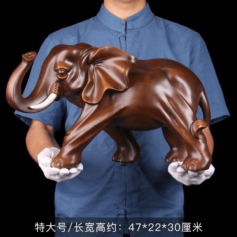 Feng Shui Elegant Elephant Resin Statue Lucky Wealth Figurine Crafts Ornaments Gift for Home Office Desktop