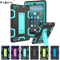 AXBETY Full Protection Stand Cover Coque For Amazon Kindle Fire 7 2017 7 0 Inch Case