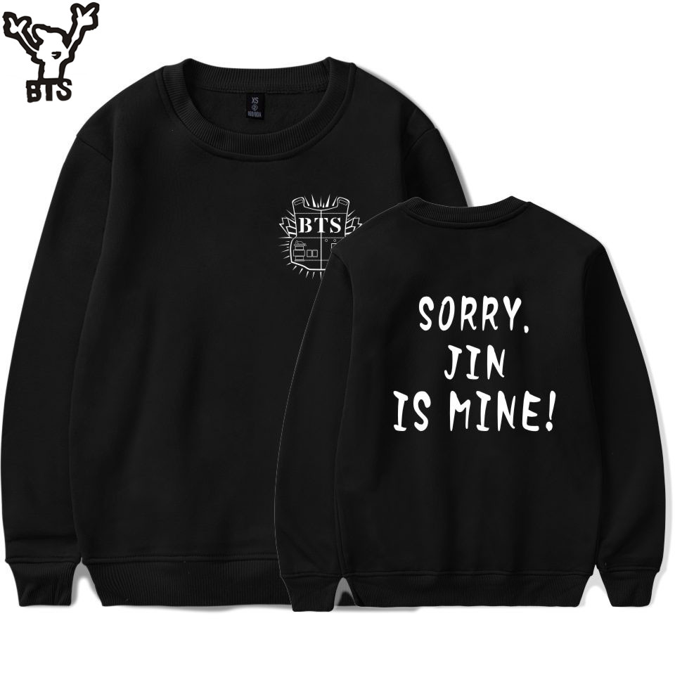 BTS Sweatshirt Popular Combination Bangtan Capless Hoodies Fashion Female Fans Sweatshirt Men/women Casual Long Sleeve Clothe