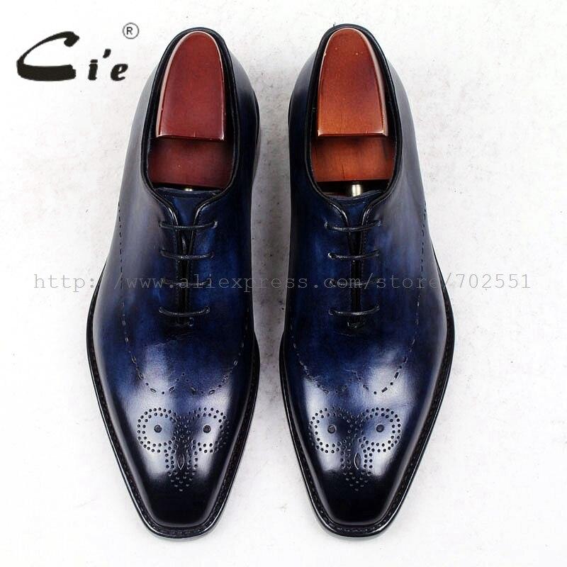 Vestido Completa Genuino Pie Hombres Cuero A Zapato Piel Entero Del Dedo Los Mano Cuadrado Becerro Zapatos Cie Ox448 De Hecho Medallón Cortado vqtYTR6w