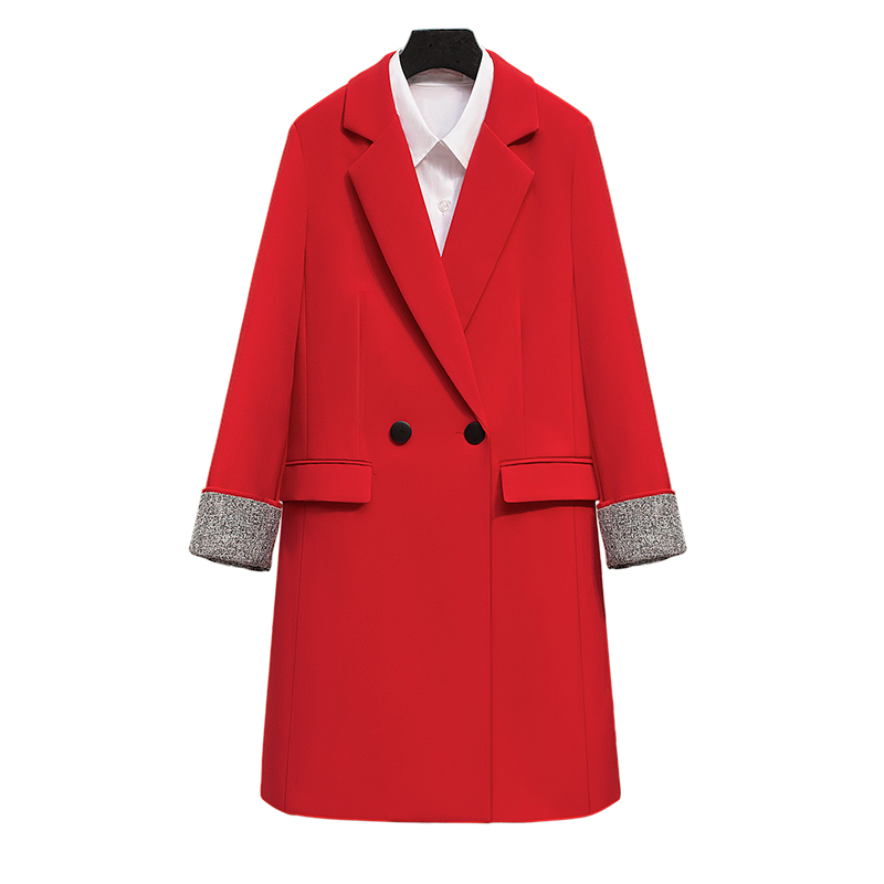 Long Blazers Casual Solid Double Breasted Women Blazer and Jackets feminino Work Office Lady Notched Flap Pocket Business Blaser