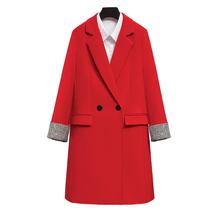 Long Blazers Casual Solid Double Breasted Women Blazer and Jackets feminino Work Office Lady Notched Flap Pocket Business Blaser long blazers casual solid double breasted women blazer and jackets feminino work office lady notched flap pocket business blaser