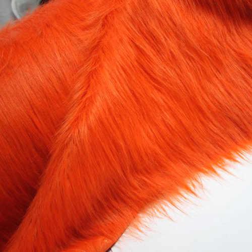 """Оранжевая ткань из искусственного меха (мех с длинным ворсом) костюмы костюм косплей 36 """"x 60"""" продается двором Бесплатная доставка"""