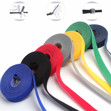 1 Roll Self Adhesive Reusable Cable Tie Colorful Practical 1m*3m*5m Ties Nylon Strap Power Wire Management Marker Straps