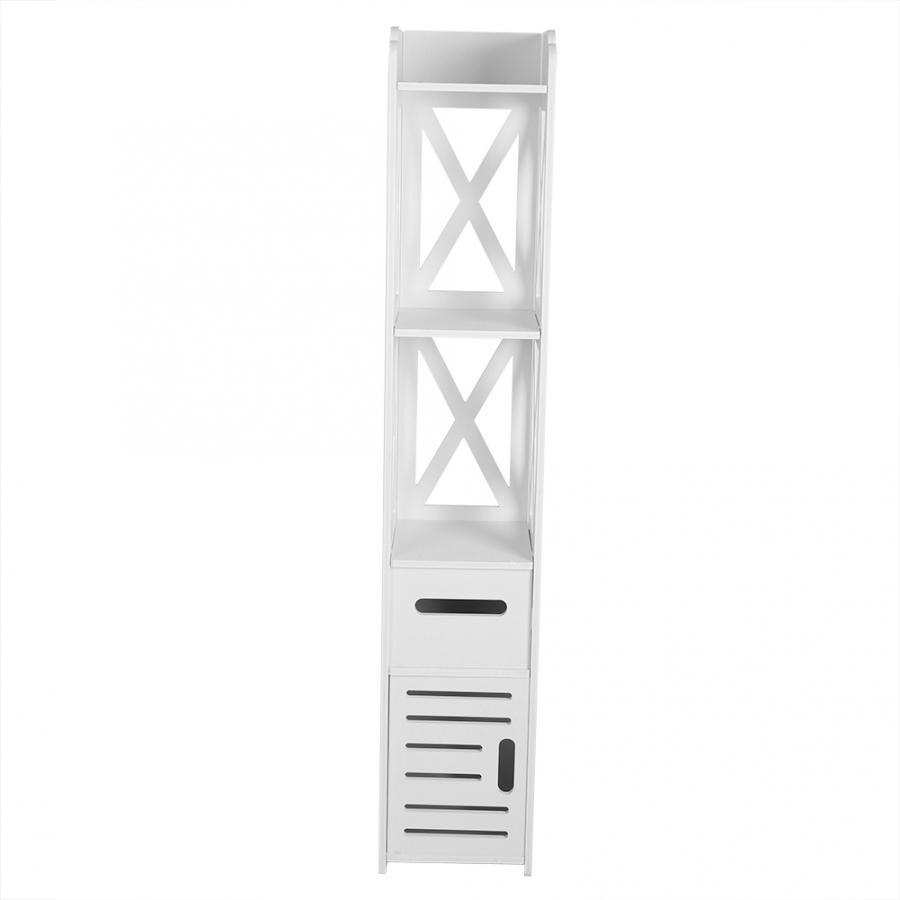 2X blanc en bois salle de bain armoire étagère placard salle de bain stockage Rack outil