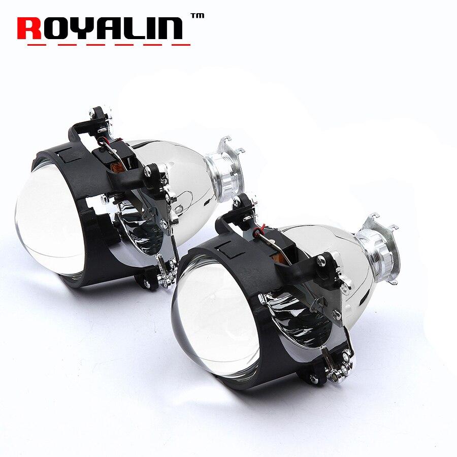 Royalin 2,8 дюймов для Bosch HID Bi Xenon объектив проектора для H1 лампы H4 H7 розетки стайлинга автомобилей Авто свет модернизации без кожухи