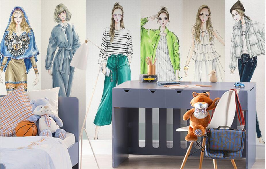 13fb95c33 Beibehang Tinggi Klasik Klasik Papel De Parede Wallpaper Fashion ...