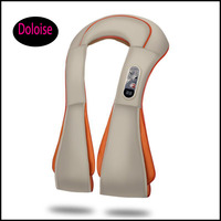 Shiatsu Back Neck and Shoulder Massager with Heat Deep Tissue 3D Kneading shawl Vibrating Massager Chair Home & Car Office use