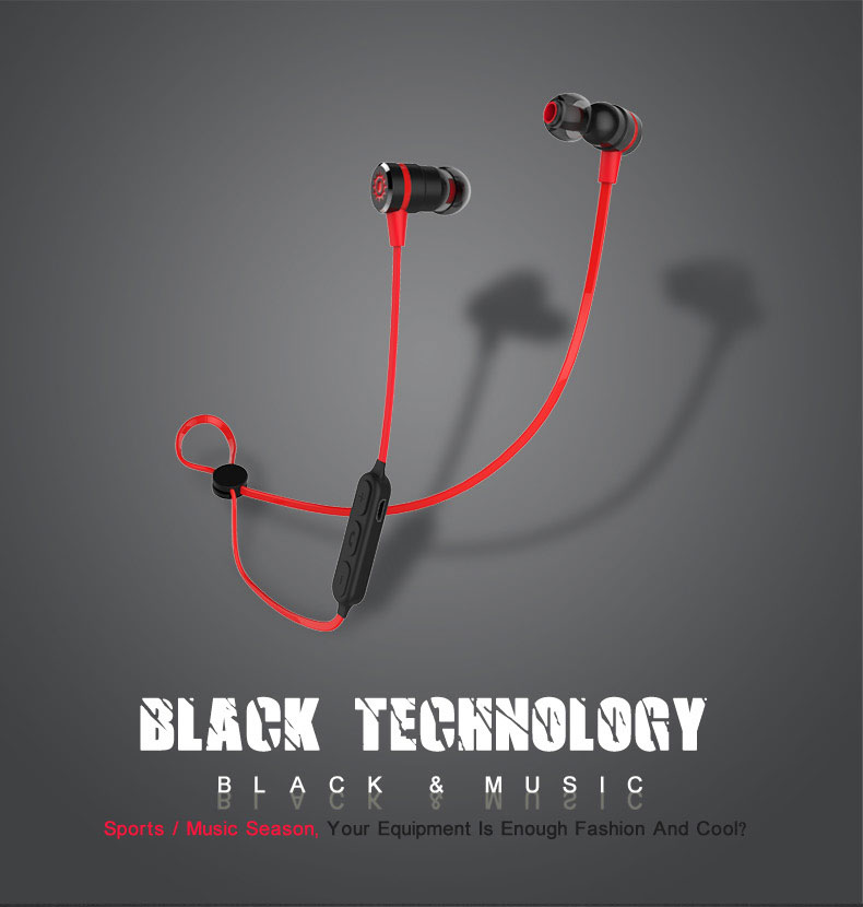Ship in 48 Hours! Plextone BX335 Magnetic Switch Wireless Sport Earphones Sweatproof Stereo Bluetooth 4.1 Headset with MIC