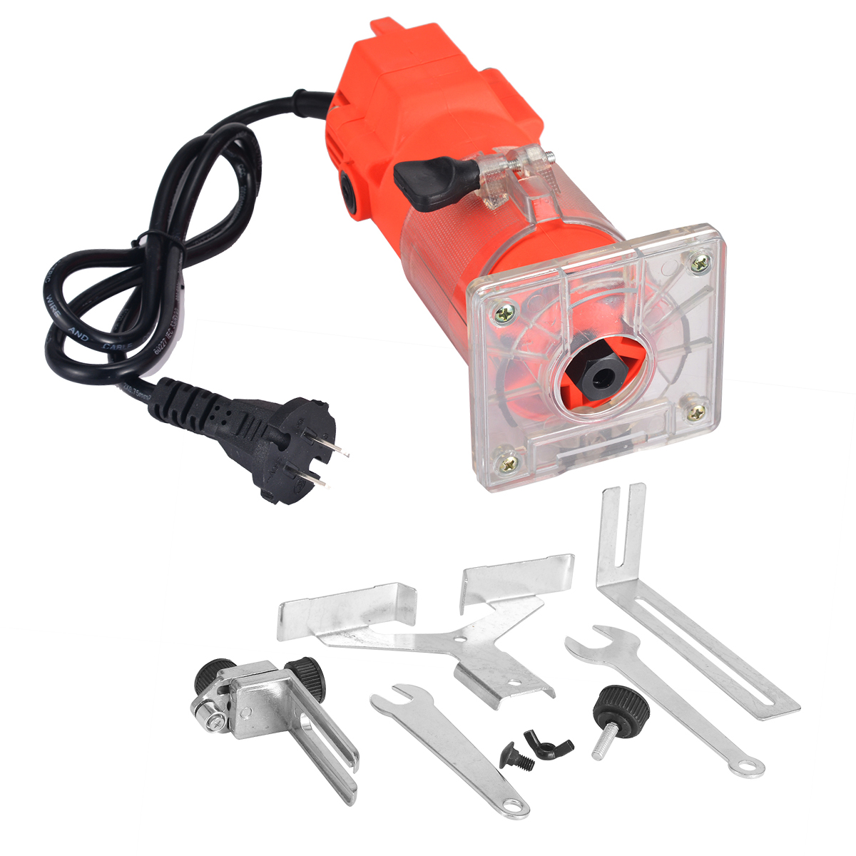 220V 300W Trim Router Edge Woodworking Clean Cut 3000rpm Electric Woodworking Toos Power Tool Set Mayitr