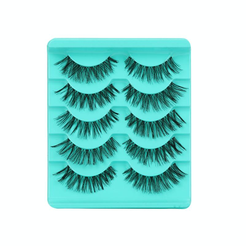3475d2fdca7 5pairs 3D Natural Multi Layer Thick Eye Lashes hand made fake eyelashes 3D  Reusable lashes For