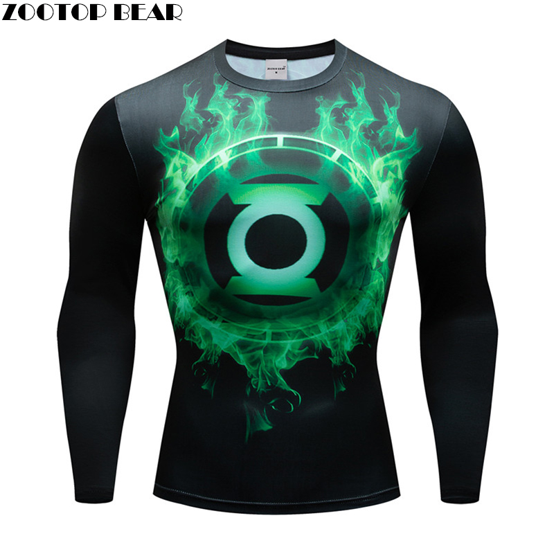 2019 Spiderman Ironman Superman Captain America Compression T-Shirt Superhero Soldier Top Marvel Comics Mens Long sleeve T Shirt