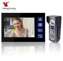 Yobang bezpieczeństwa 7 odblokować drzwi wideo telefon wizualny domofon dzwonek aparatu bezpieczeństwa w domu zestaw głośnomówiący do kontroli dostępu tanie tanio Cmos Przewodowy Jeden do jednego wideo domofon FDL-806M11 Do Montażu na ścianie Cyfrowy Kolor Brak 7 cali w 420 linii tv