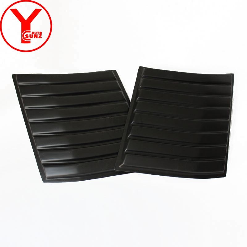 YCSUNZ matte black side bonnet scoops hood vents car styling accessories For Ford Everest Endeavour Ranger T7 2016 2017 2018