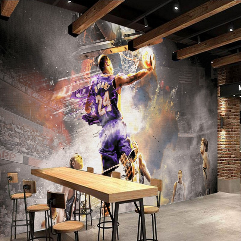 Free Shipping Nostalgia basketball star backdrop high quality bedroom living room bathroom mural studio artistic wallpaper  free shipping retro female star mural background wall bathroom studio home decoration artistic studio bedroom wallpaper