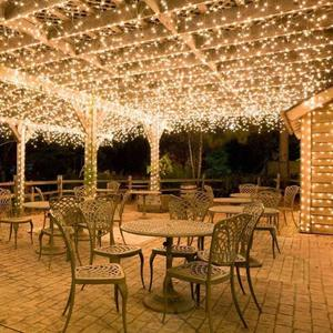 10 m 100 LED Icicle String Lights Christmas Fairy Lights Garland Outdoor Home for Wedding/Party/Garden Christmas Decoration .B