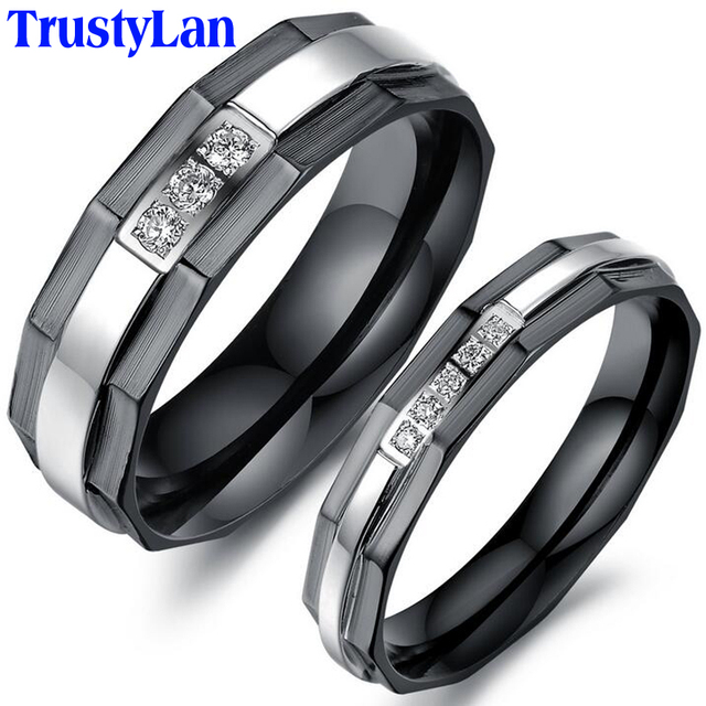 trustylan one piece price new his and hers promise ring sets fashion black wedding rings for - Black Wedding Ring Sets