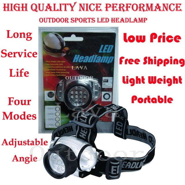 LED Head Lamp - LED Head Light,Helmet Lamp, LED Bulbs;Very Low Price,Nice Performance,Ultra-light,Drop Shipping,Free Shipping