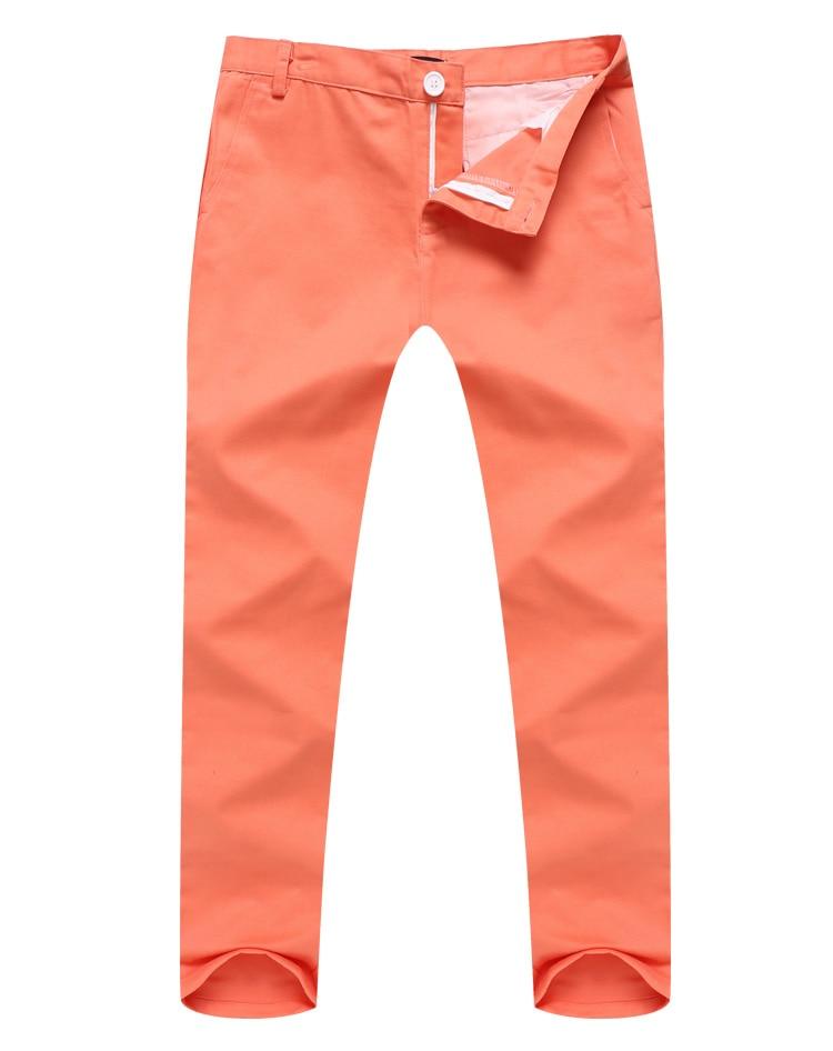 aa127f2c1 Men Korean Style Slim Fit Khaki Pants Designer Mid-Rise Casual Men Chinos  Trousers