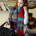 180*33 cm 2015 de Invierno Regalo de Navidad Flor de Nieve Deer Imprimir Mujer Hombre Causal gruesa Bufanda caliente bufandas de lana envío Gratis