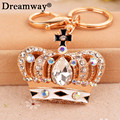 crystal crown keychain metal prince cross key rings for key hanger luxury key chain charm pendant best gift free shipping