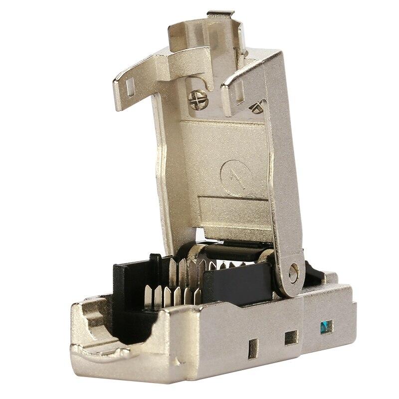 Blindé cristal tête En Métal Module Outil-Livraison Plug FTP RJ45 connecteur Ordinateur câble adaptateur pour 10 Gbps serveur réseau - 3
