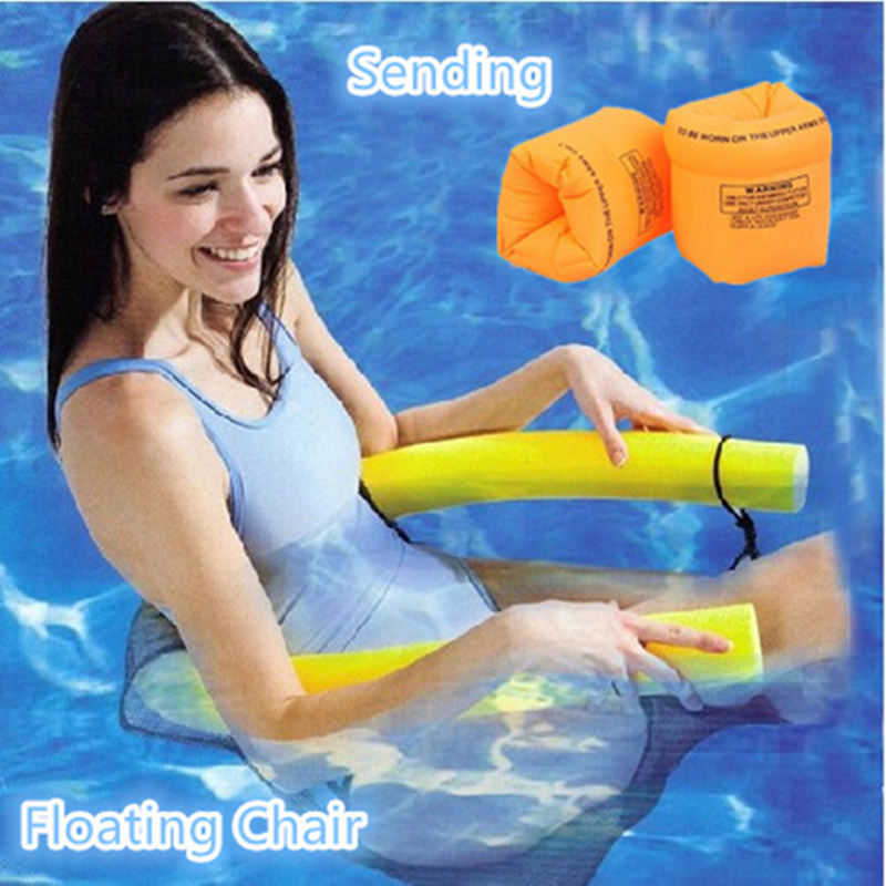 Thicken 6cm EPE Swim Ring Floating Chair For Adult Kids Pool Floats With  Swim Arm Rings Sitting Bedding On Water Toy Pool Noodle