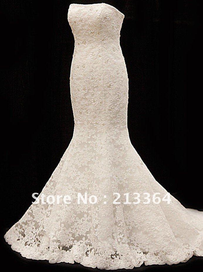 free shipping 2012 new elegant lace mermaid dress top