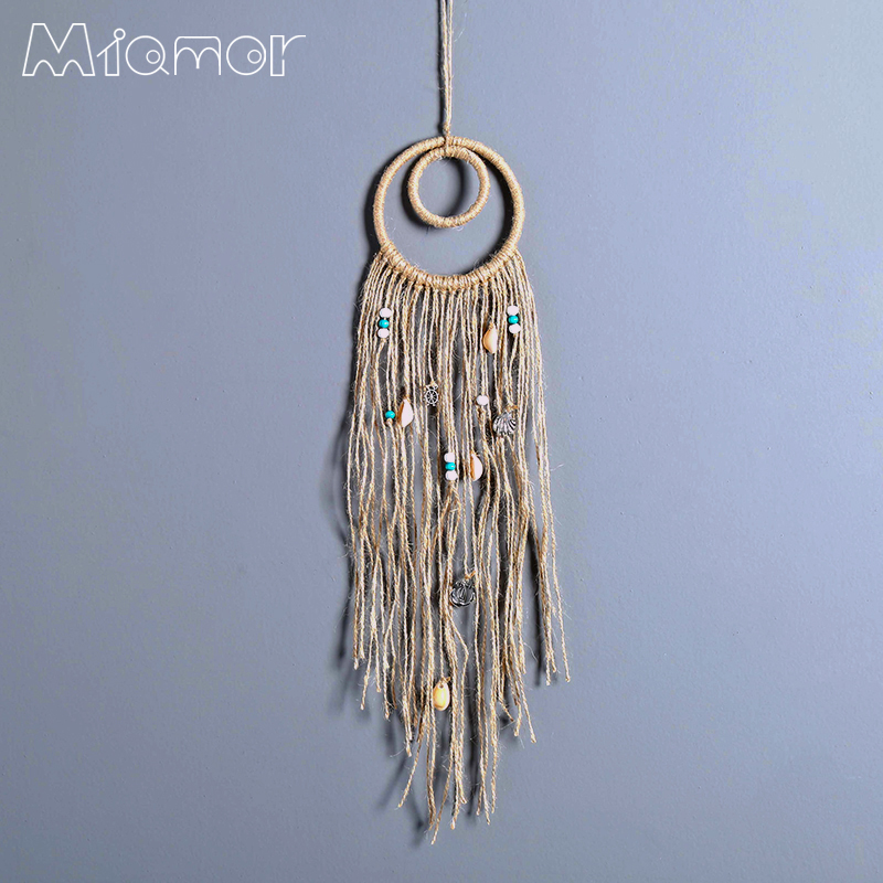 New Fashion Gift India Shell Polycyclic Dreamcatcher Wind Chimes Home Wall Hanging Pendant Dream Catcher Regalo Amor7068