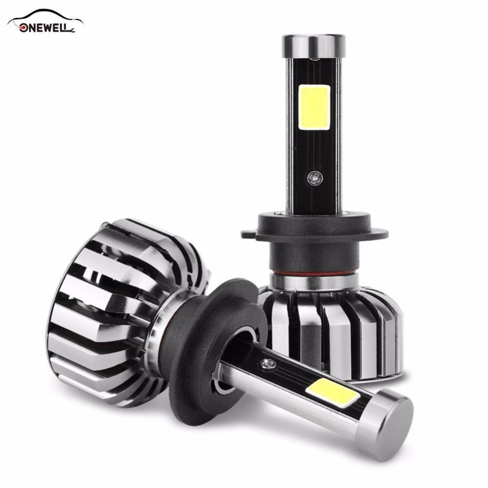 ONEWELL H4 Car Headlamp Led H7 80W 8000lm Hi / Low Lamp H8 / H9 / Replacement H11 Car Headlamp IP68 Water Proof 2 Pcs