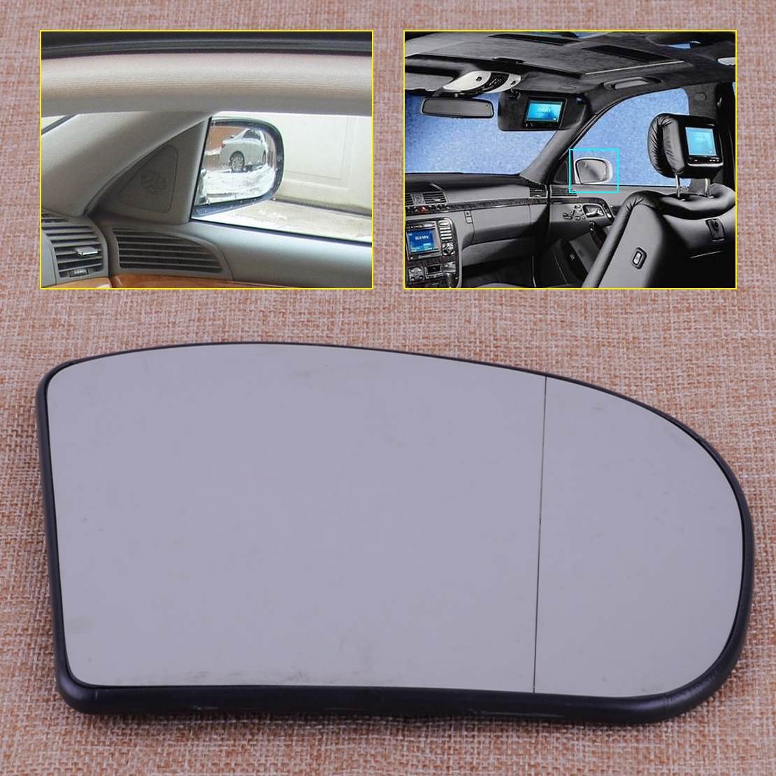 CITALL 2038100221 Right Heated Wide Angle Door Mirror Glass Fit For Mercedes E C Class W211 W203 E320 E500 E55 C230 C240 C280