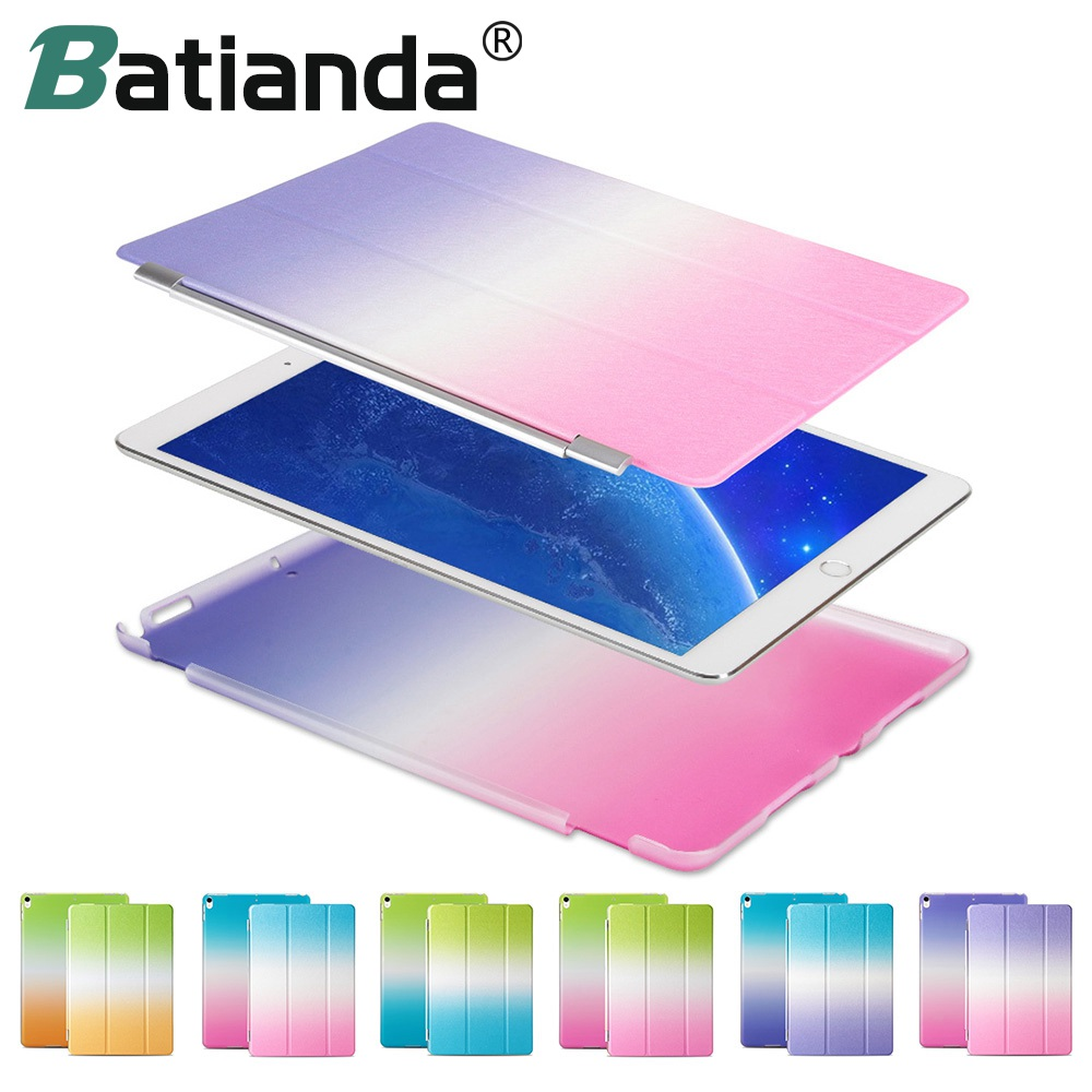 Rainbow Color PU Leather Cover Ultra Thin Smart Case For iPad Pro 10.5 with Auto Sleep/Wake Separate Front + Back Cover candino candino c4451 4