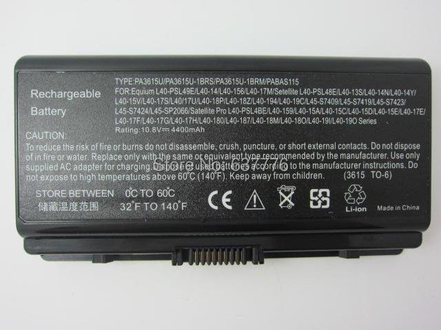 Batería del ordenador portátil para toshiba satellite l45-s7424 l45-l45-sp2066 s7409 l45-s7419 l45-s7423 pa3615u-1brm, pa3615u-1brs, pabas115
