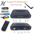 V7 Freesat HD TV Vía Satélite Receptor DVB-S2 1080 P Apoyo USB Wifi Set Top Box + 1 Año cccam Europa cline Servidor Cccam