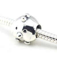 Thread Beads 925 Steling Silver Chicken Animal European Charm Beads For Jewelry Making Fits Pandulaso Diy