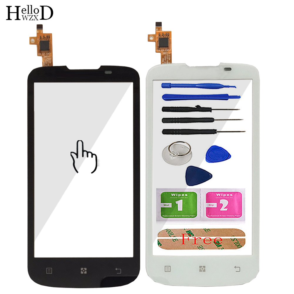 4.5 Inch HighScreen Touch Screen Digitizer For Lenovo A800 A 800 Touch Panel Front Glass Capacitive Lens Sensor Free Adhesive