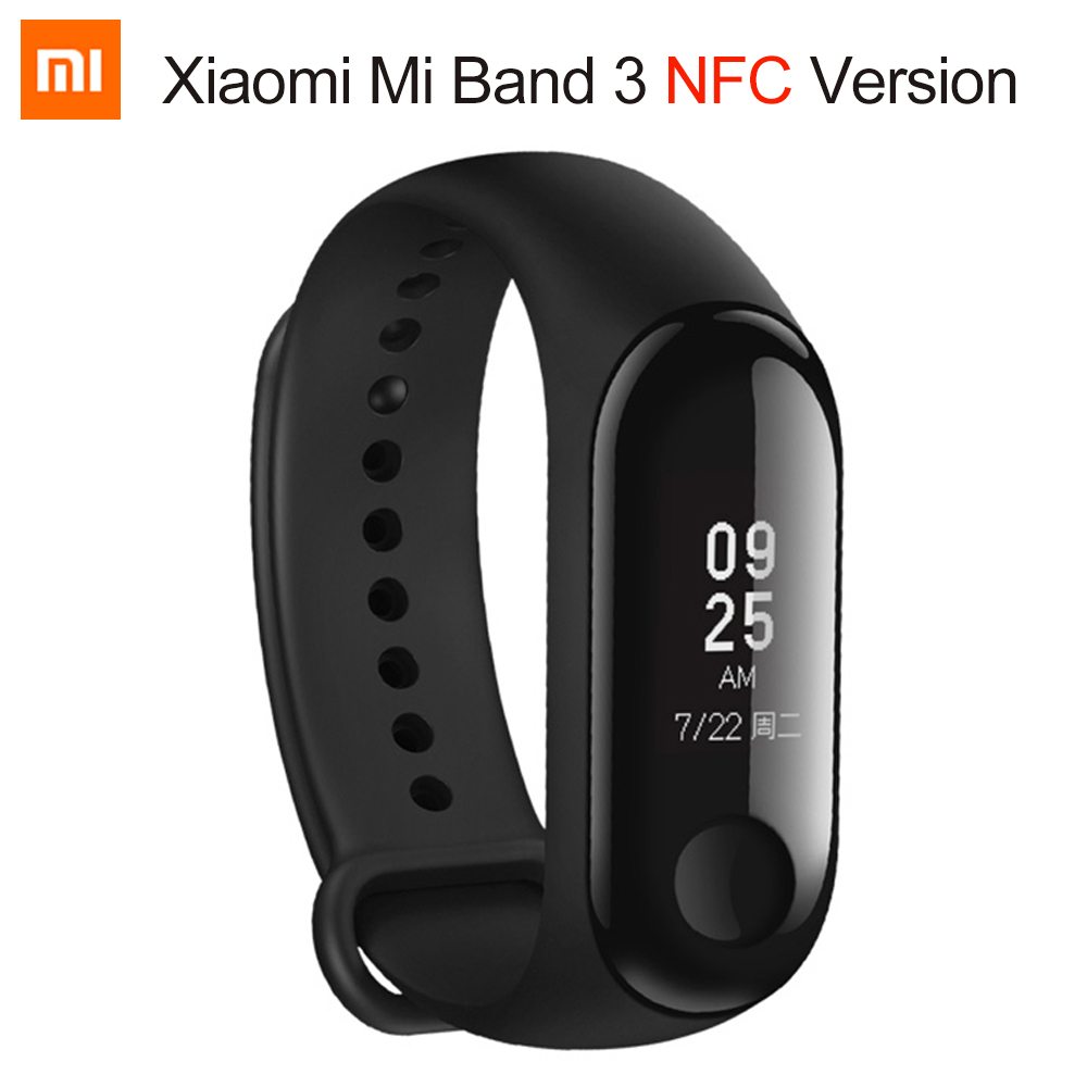 New Xiaomi Mi band 3 NFC Version Smart band Wristband Bracelet Mi band 3 OLED Display Miband 3 Fitness Tracker Waterproof цены
