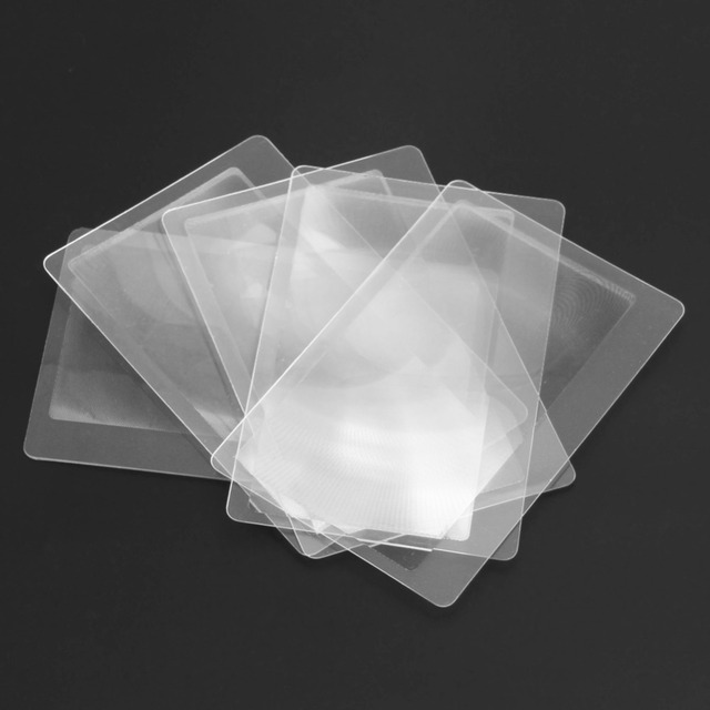 Fresnel LENS 8.00*5.50*0.04cm magnifying glass 10 PCS Credit Card 3 X Magnifier Magnification Magnifying
