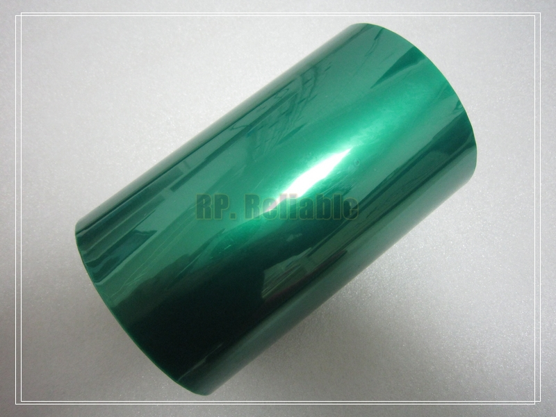 1x 150mm*33 Meters*0.06mm High Temperature Withstand Adhesive PET Green Mask Tape PCB Soldering, Plating, Protecting,