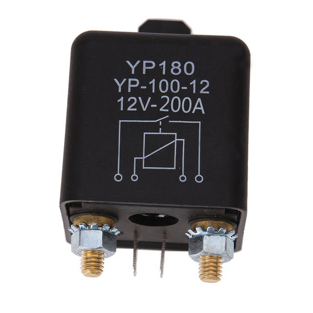 High Power 4 Pin Car Relay 12V 200A Car Truck Motor Automotive Relay Continuous Type Automotive Switch Car Relay Normally Open