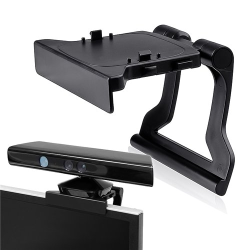 Popular kinect black buy cheap kinect black lots from china kinect high quality black plastic kinect 20 sensor for xbox one tv clip mount holder for microsoft sciox Gallery