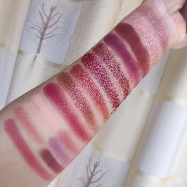 UCANBE Changeable Pink Violet Nude Eye Shadow Palette Makeup 18 Colors Matte Shimmer Glitter Eyeshadow Powder Waterproof Pigment 4