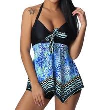 One Piece Push Up Swimsuits Sexy Women Plus Size Print Tankini Swim jupmsuit Swimsuits Beachwear Padded Swimwear L326