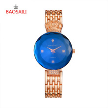 Бренд baosaili 2 цвета Мода Хрустальная корона женские часы Relogio Feminino ремешок для часов из сплава дамы кварцевые наручные 45