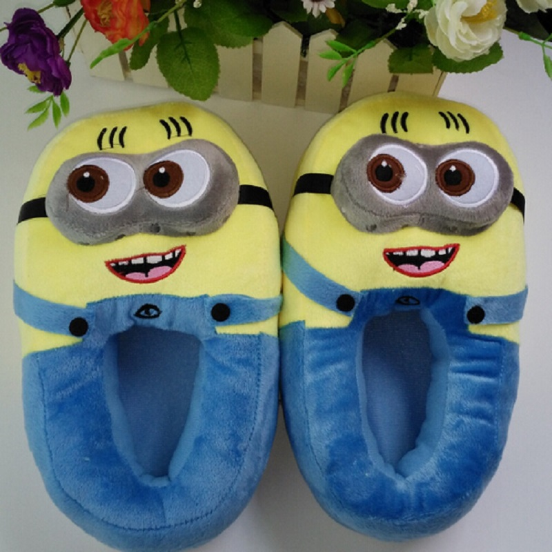 3D minions slippers woman Winter Warm slippers Despicable Minion - Men's Shoes - Photo 3