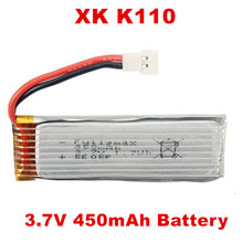 3.7 В 450 мАч lipo Батарея для WLtoys V977/xk K110 blast 6ch вертолет запасных Запчасти Интимные аксессуары