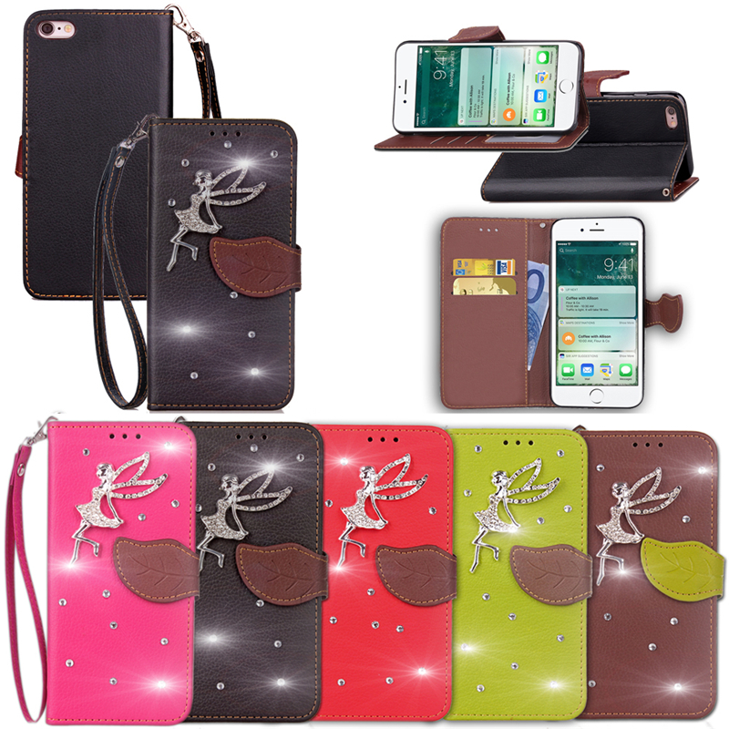Luxury Flip For Coque Apple iphone 7 Phone Cover PU Leather Wallet + TPU Soft Silicon Case For iphone 7 Case Fundas Capa